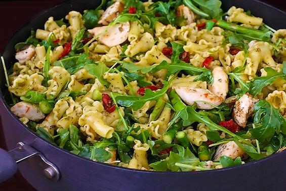 Recipes chicken pasta pesto