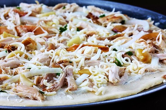 how to make chicken pizza in microwave oven