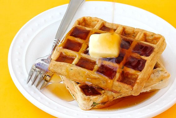 "can't help but smile when I hear the word ""waffles""."