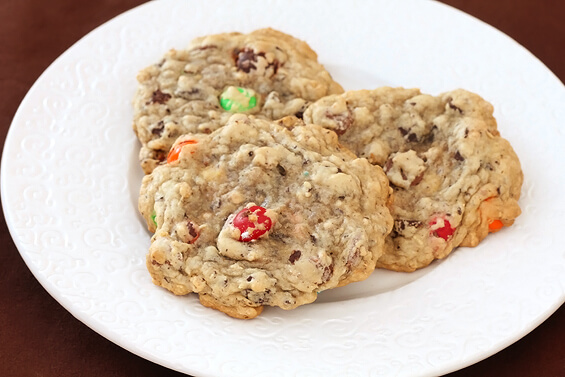 Granola M&M Cookies Recipe