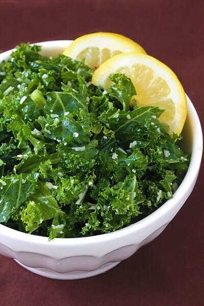 Lemon Parmesan Kale Salad   Gimme Some Oven