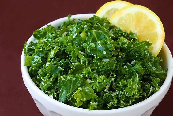 Lemon Parmesan Kale Salad