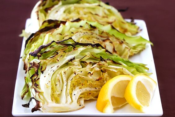 roasted lemon pepper cabbage