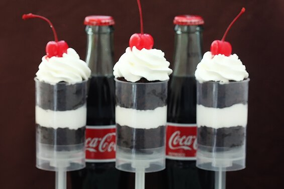 Coke Float Push-Up Pops