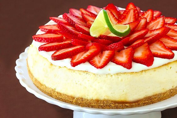 Strawberry Margarita Cheesecake