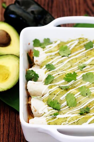 Chicken & Avocado Enchiladas | {eat.drink.be very merry}