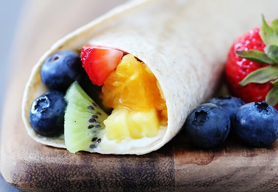 Rainbow Fruit Wraps