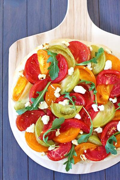 tomato pizza blt pizza with bacon arugula tomato davis bynum sausage ...