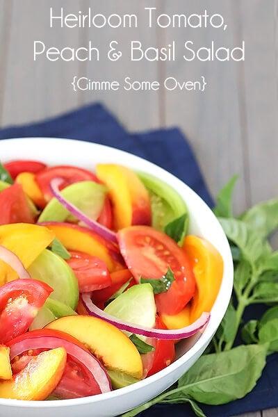 peach tomato and basil salad recipe tomato prosciutto peach basil and ...