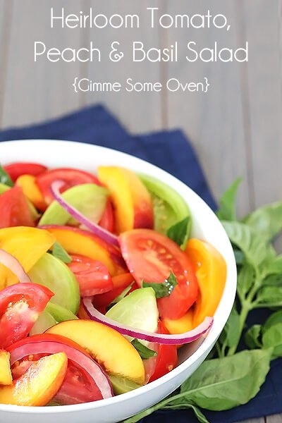 Tomato, Peach And Basil Salad Recipes — Dishmaps