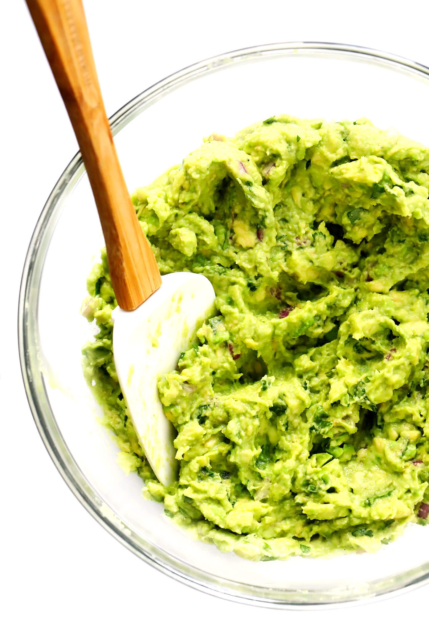 How To Make Guacamole | Mixing it in the bowl