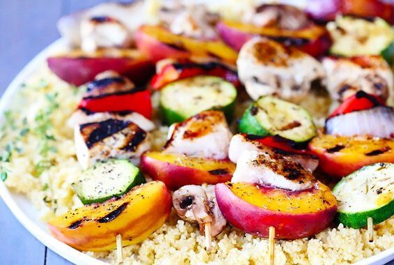 Peach & Chicken Kabobs