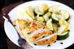Hummus-Crusted Chicken {Gimme Some Oven}