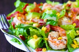 Shrimp, Avocado and Roasted Corn Salad {Gimme Some Oven}