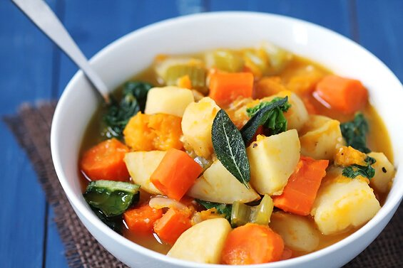 Slow Cooker Root Vegetable Stew | Make Ahead Freezer Meals To Make Meal Prep Easy