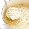 This Creamy White Chicken Chili recipe is easy to make, and full of the most delicious comforting flavors! | gimmesomeoven.com
