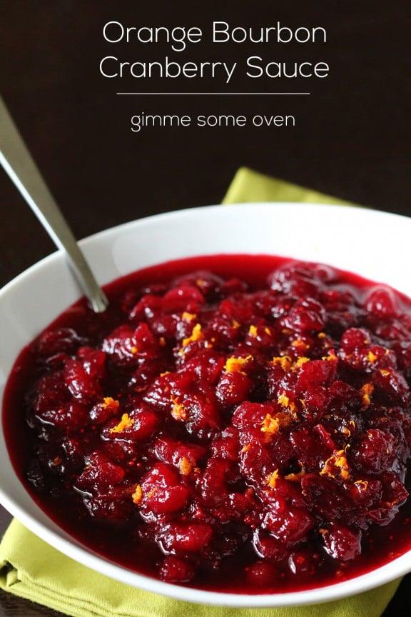 Orange Bourbon Cranberry Sauce | Gimme Some Oven