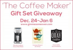 the coffee maker gift set giveaway