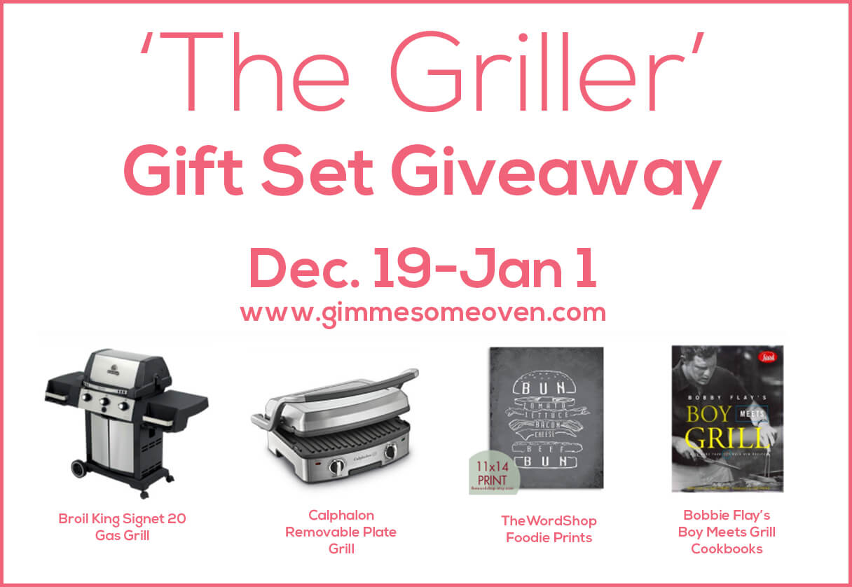 Enter The Griller Giveaway at Gimme Some Oven | gimmesomeoven.com