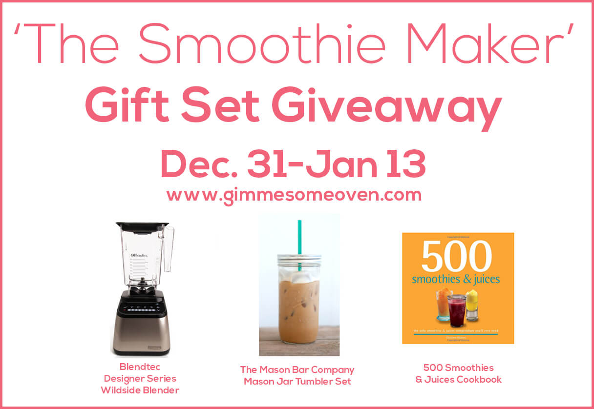 Enter The Smoothie Maker Gift Set Giveaway | gimmesomeoven.com