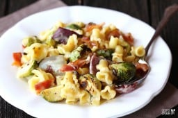 Roasted Brussels Sprouts, Bacon & Pepperjack Macaroni & Cheese