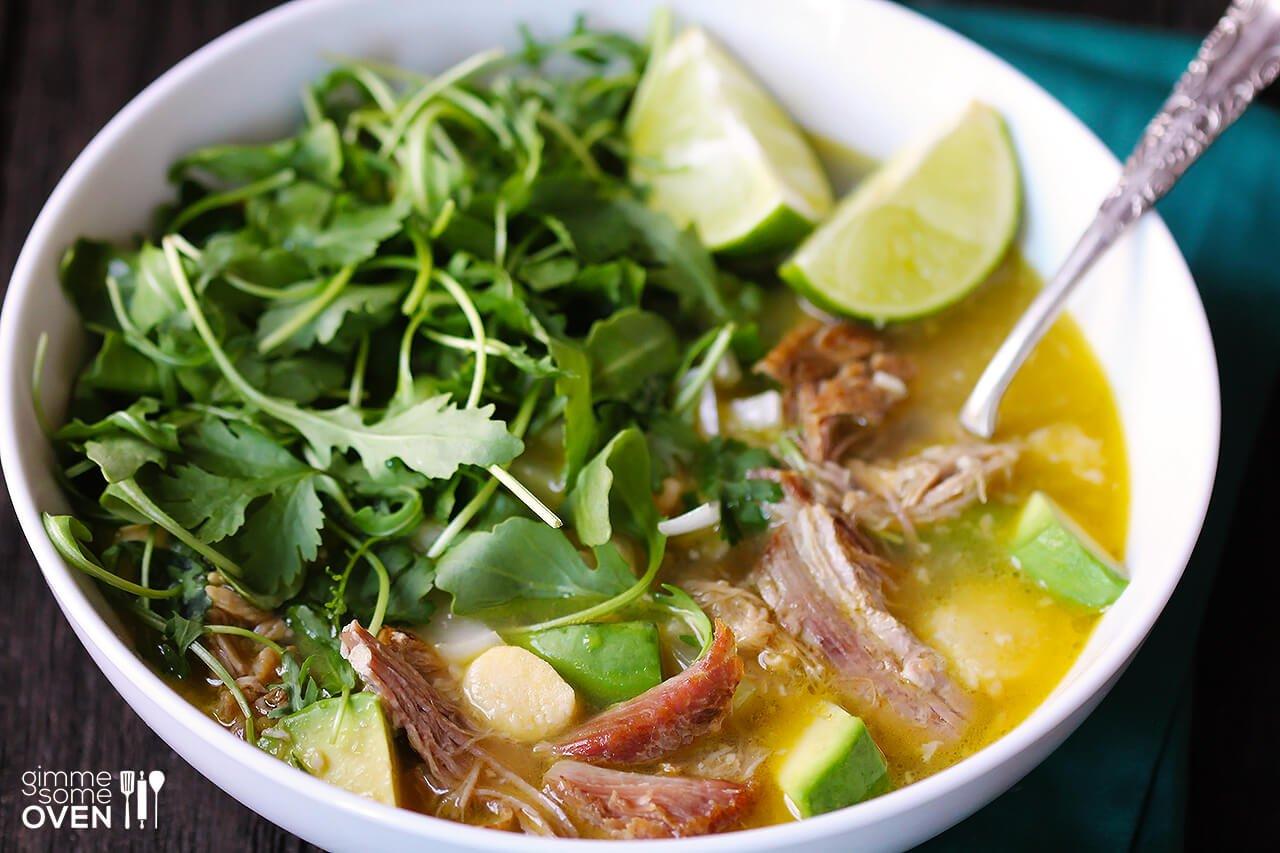 Carnitas Caldo (Carnitas Soup) | gimmesomeoven.com