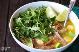 Carnitas Caldo (Carnitas Soup) {Gimme Some Oven}