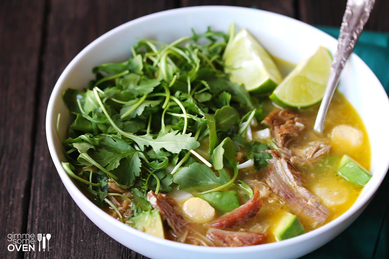 Carnitas Caldo (Carnitas Soup) | Gimme Some Oven