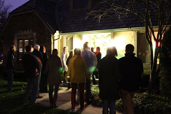 Our family caroling last week - December 2012.