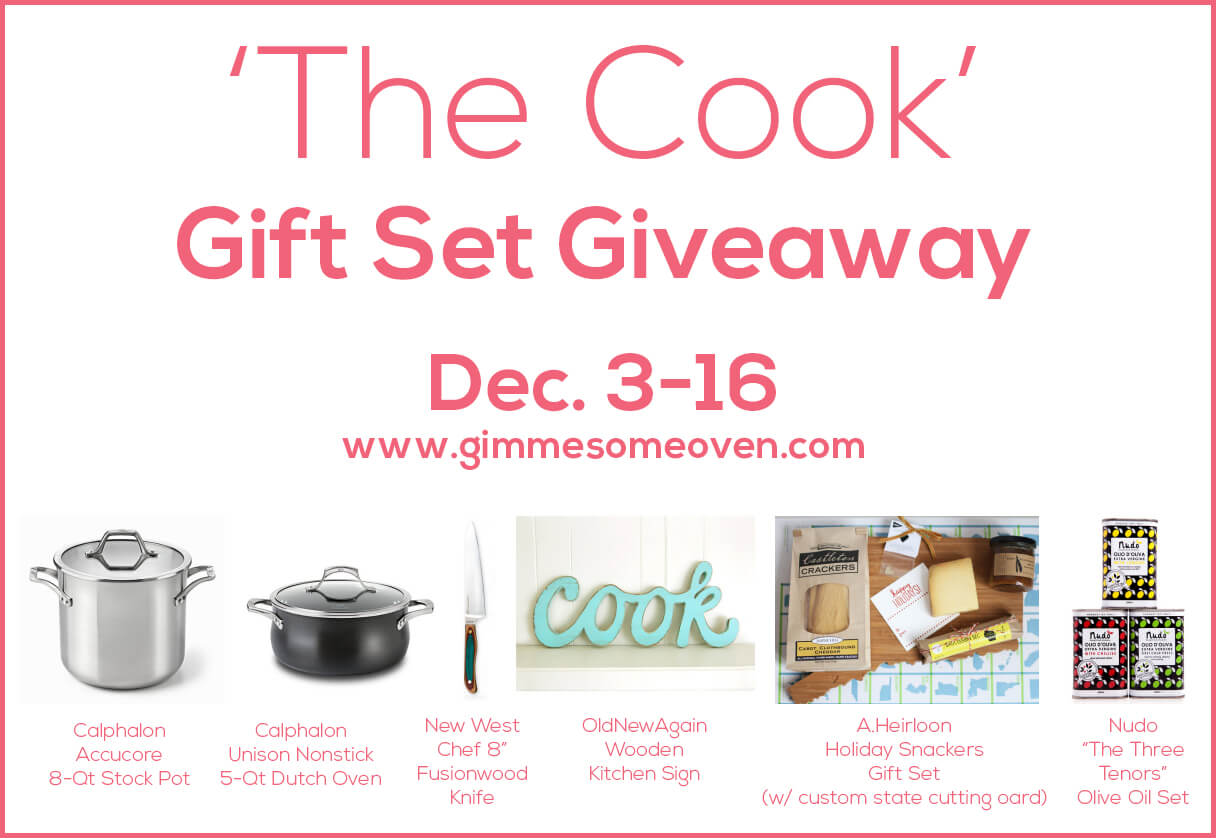 'The Cook' Gift Set Giveaway | gimmesomeoven.com