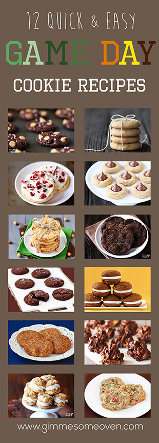 Game Day Cookie Recipes | gimmesomeoven.com