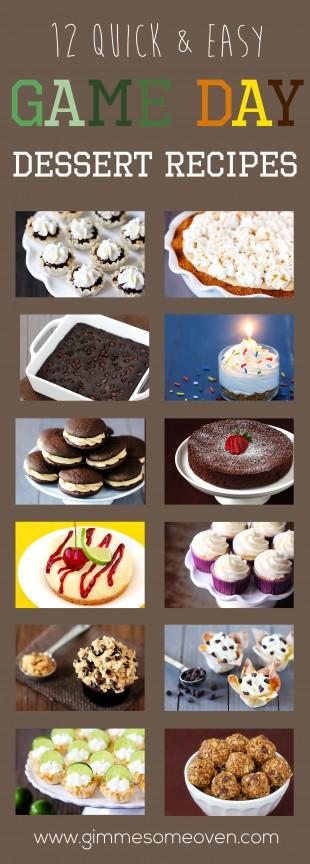 Game Day Dessert Recipes | gimmesomeoven.com