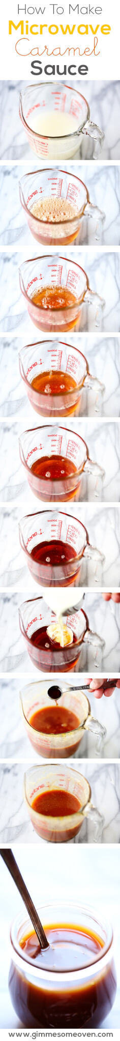 Microwave Caramel Sauce | gimmesomeoven.com