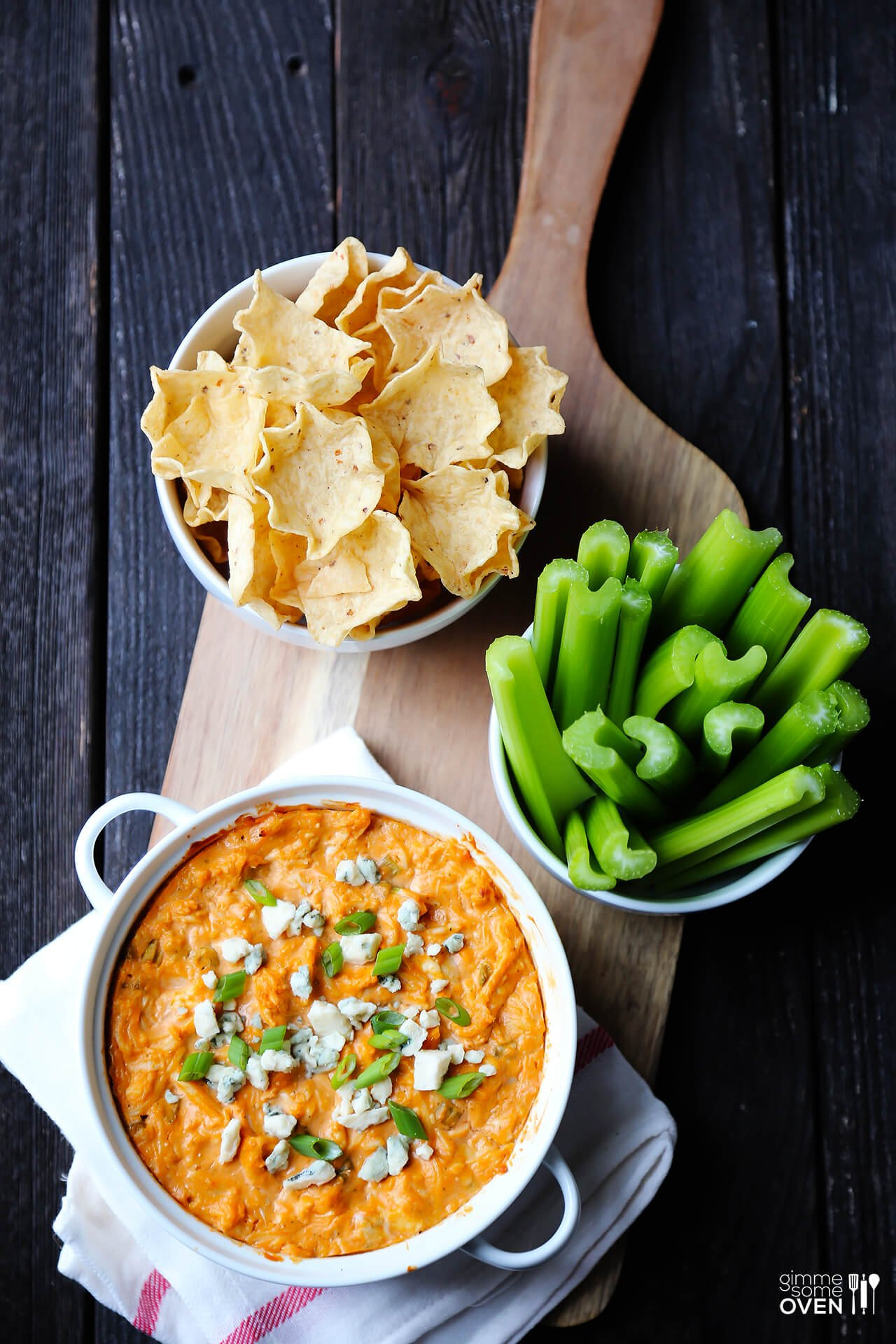 Skinny Buffalo Chicken Dip | Gimme Some Oven