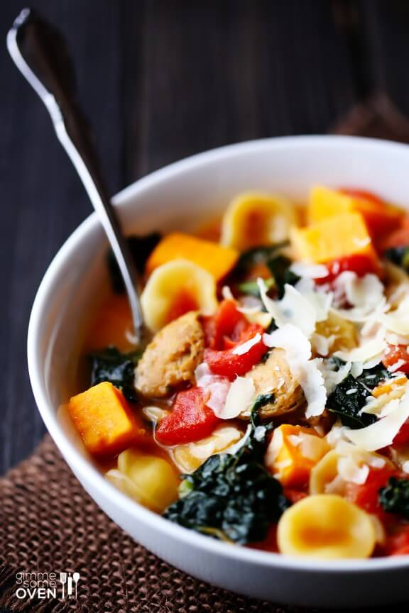 ... sweet potato sausage kale soup a delicious sweet and savory soup that