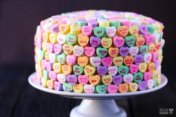 Strawberries and Cream 'Heart' Cake | gimmesomeoven.com