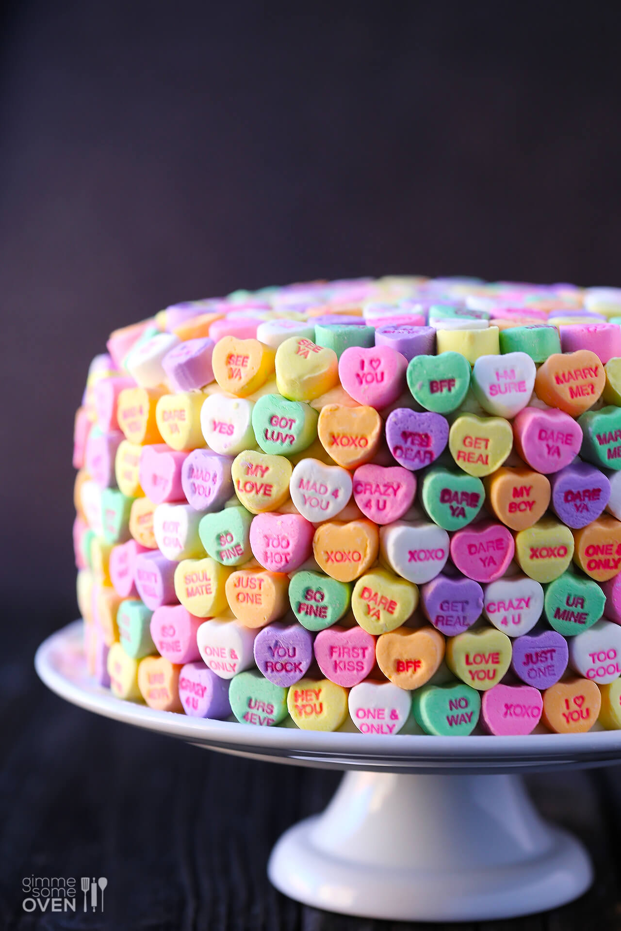 Cream heart cake says i love you in a hundred different ways - Strawberries And Cream Heart Cake Gimmesomeoven Com