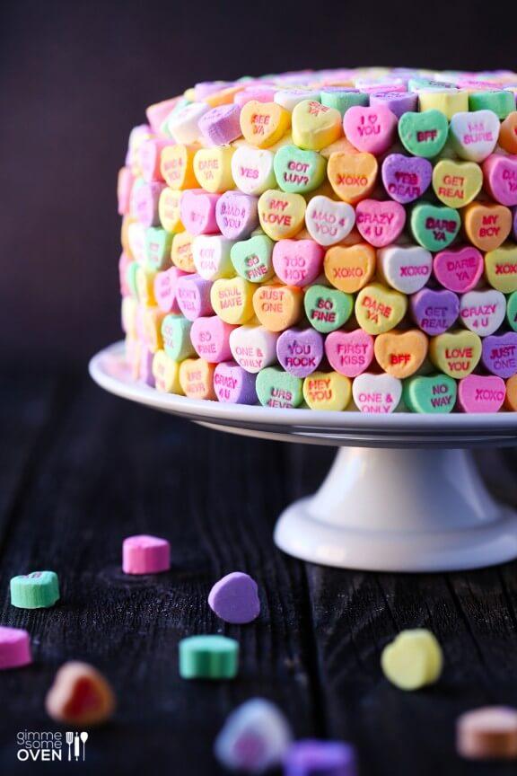 "Strawberries and Cream ""Heart"" Cake | gimmesomeoven.com"