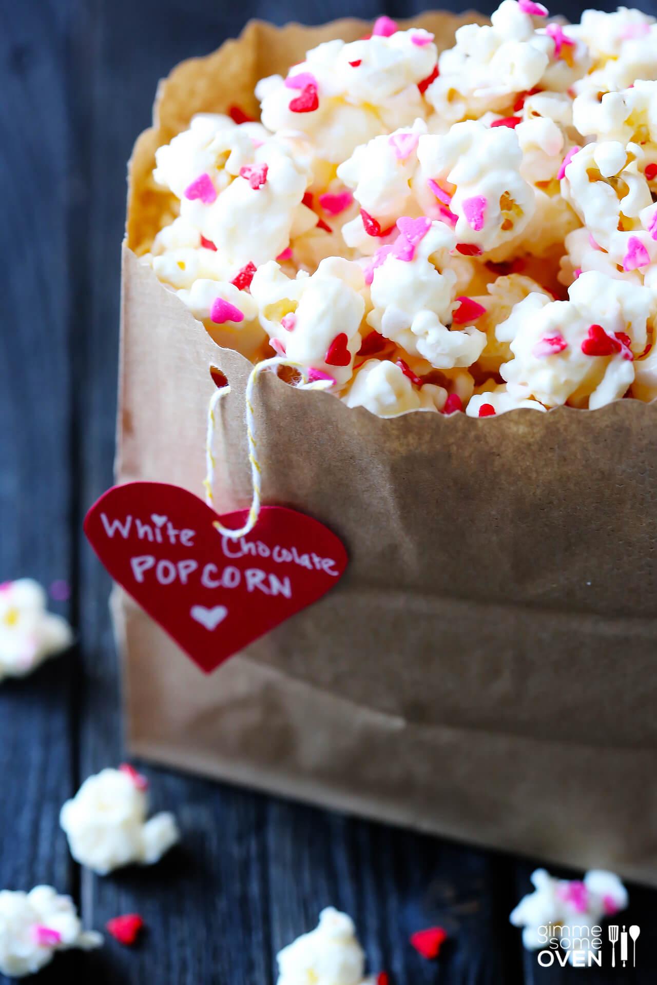 Valentine's Popcorn (White Chocolate Popcorn)
