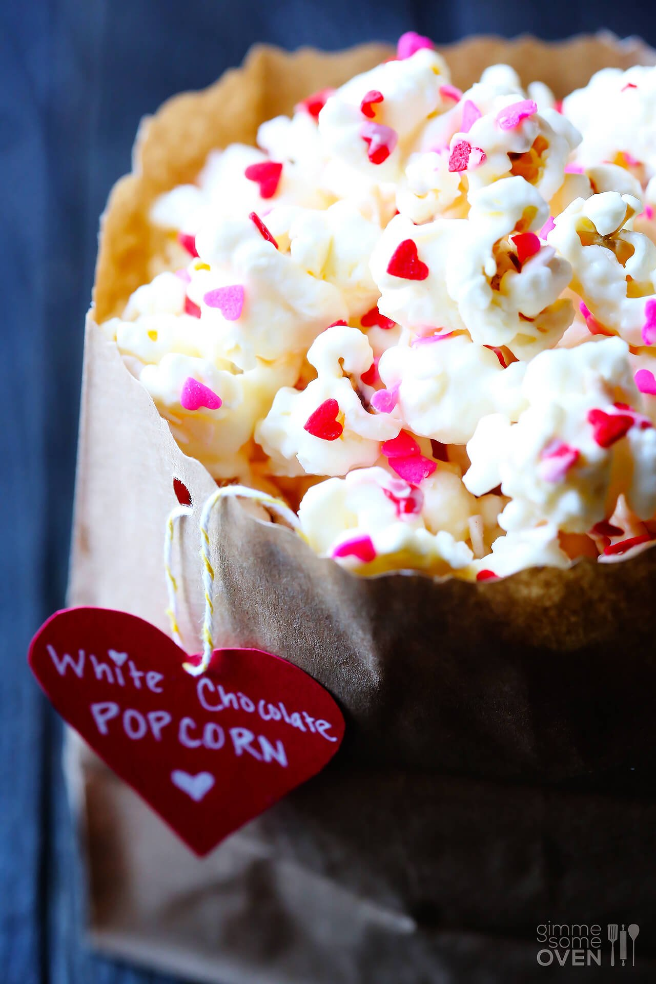 Valentine S Popcorn White Chocolate Popcorn Gimme Some Oven