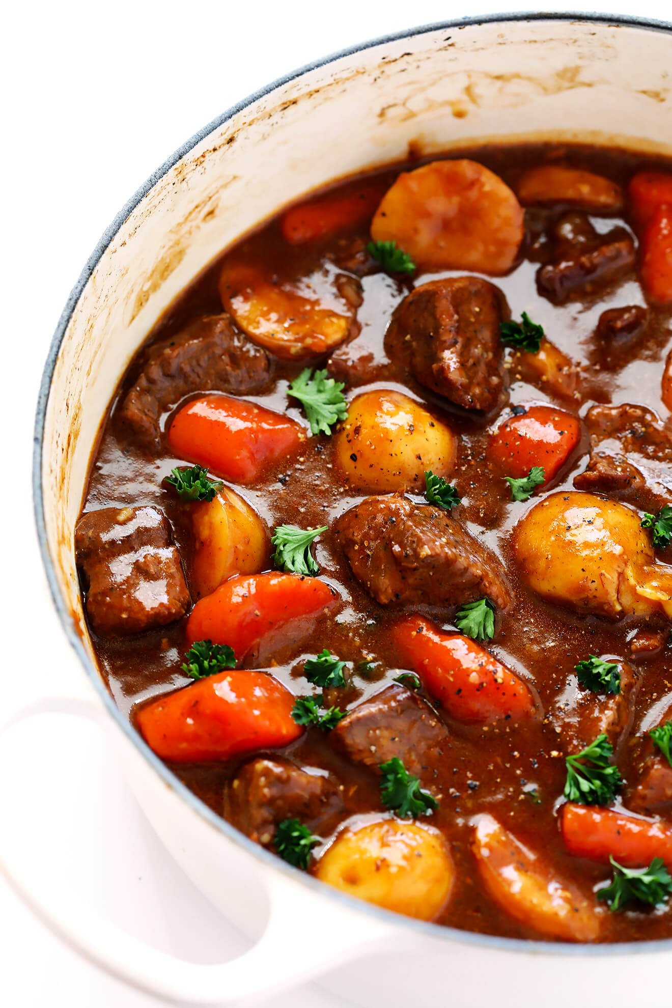 This Guinness Beef Stew recipe is so hearty and delicious, and perfect for St. Patrick's Day. | gimmesomeoven.com