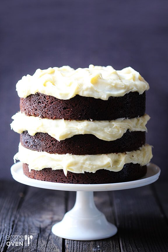 Cake With Cream Frosting : chocolate cake cream cheese icing