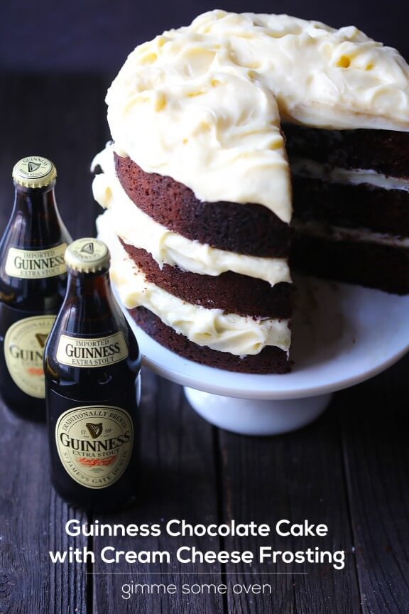 Chocolate Stout Cake with Baileys Irish Cream Cheese Frosting | Flour ...