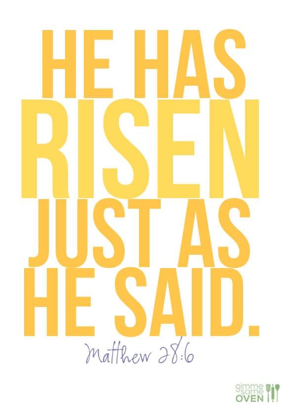 He Has Risen | gimmesomeoven.com