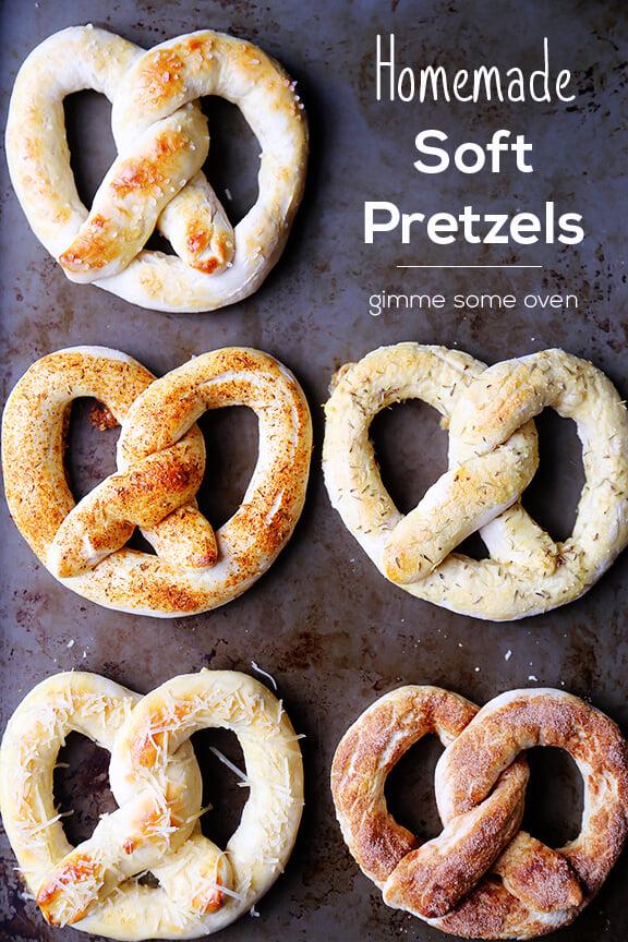 5 Ways To Make Homemade Soft Pretzels   gimmesomeoven.com