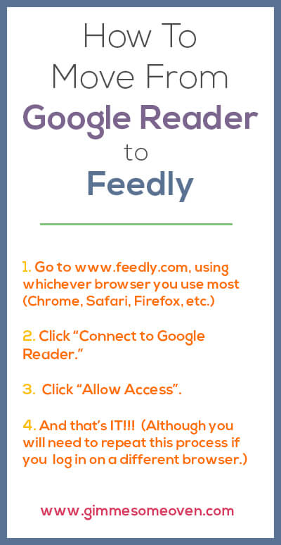 How To Move From Google Reader to Feedly | gimmesomeoven.com