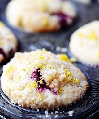 Lemon Blueberry Muffins Recipe   gimmesomeoven.com