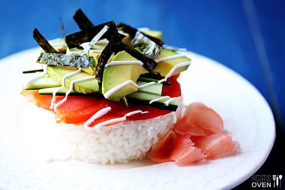 Philadelphia Sushi Stacks | gimmesomeoven.com
