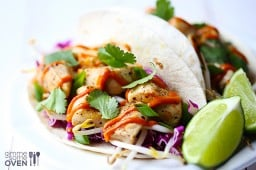 Thai Chicken Tacos {Gimme Some Oven}