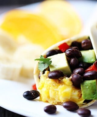 Black Bean and Avocado Breakfast Burritos 1